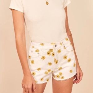 Reformation daisy shorts 27 white high waisted